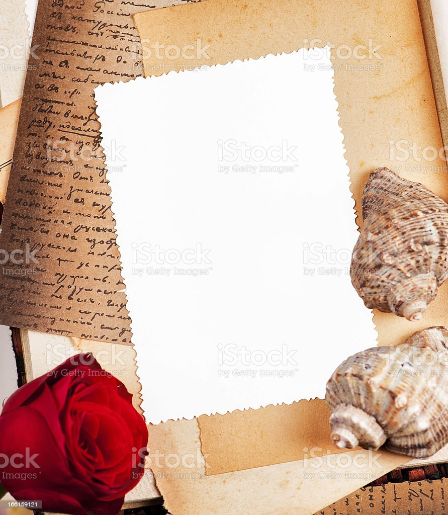 empty photo frame in vintage style royalty-free stock photo