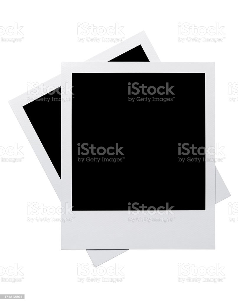 Empty  Photo Frames royalty-free stock photo