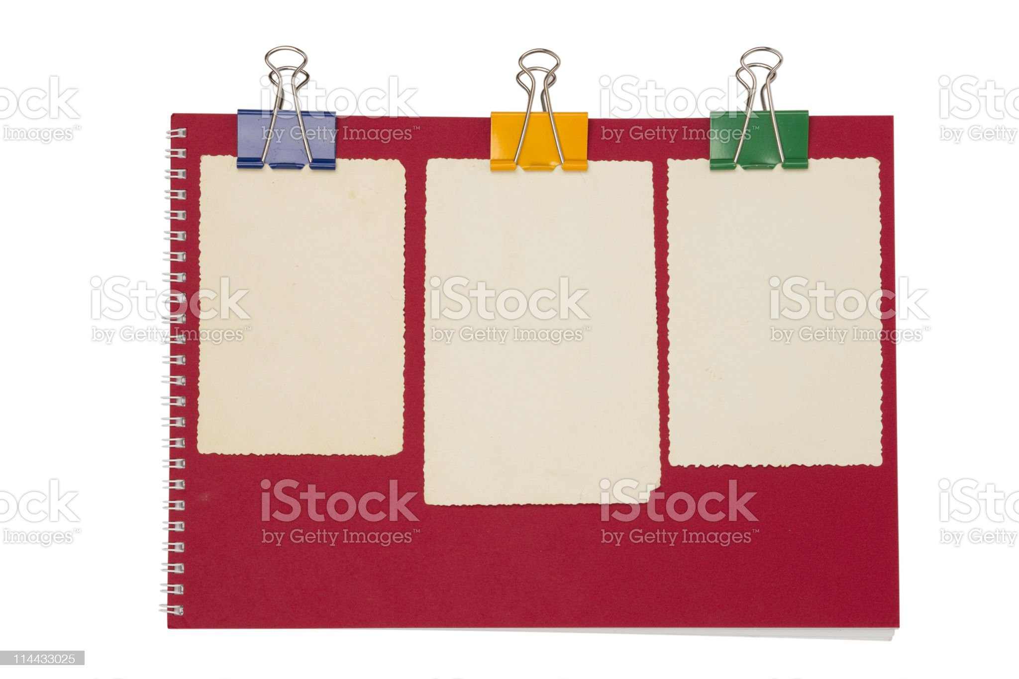 Empty photo on red notepad royalty-free stock photo
