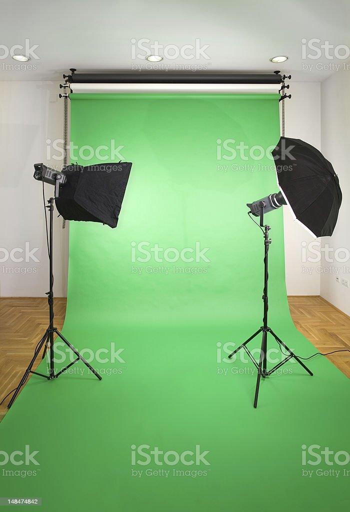 Empty Photo Studio stock photo