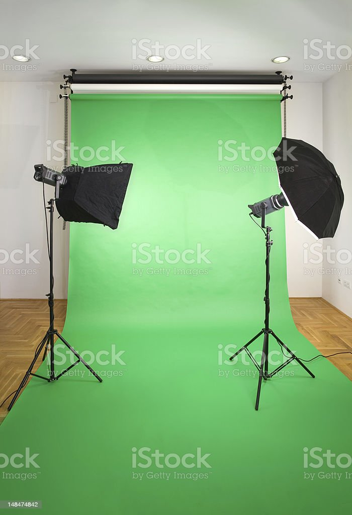 Empty Photo Studio stock photo