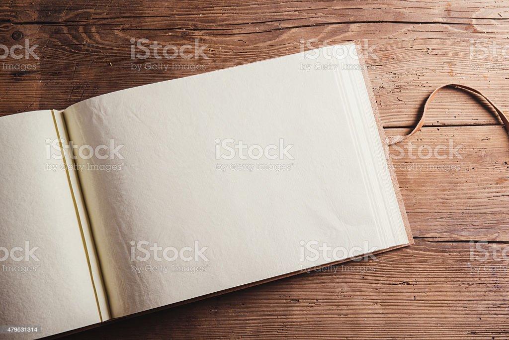 Empty photoalbum stock photo