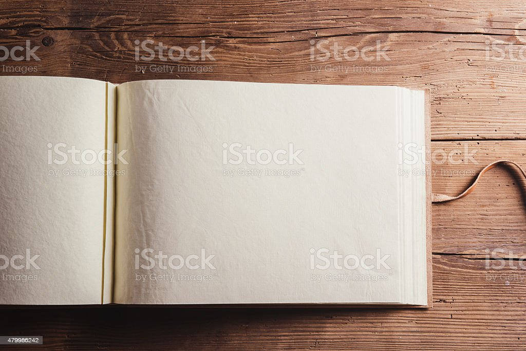 Empty photoalbum stock photo