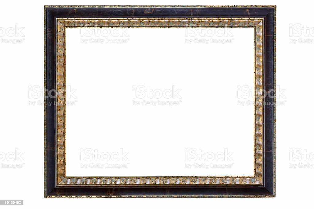 empty picture frame isolated on white royalty-free stock photo