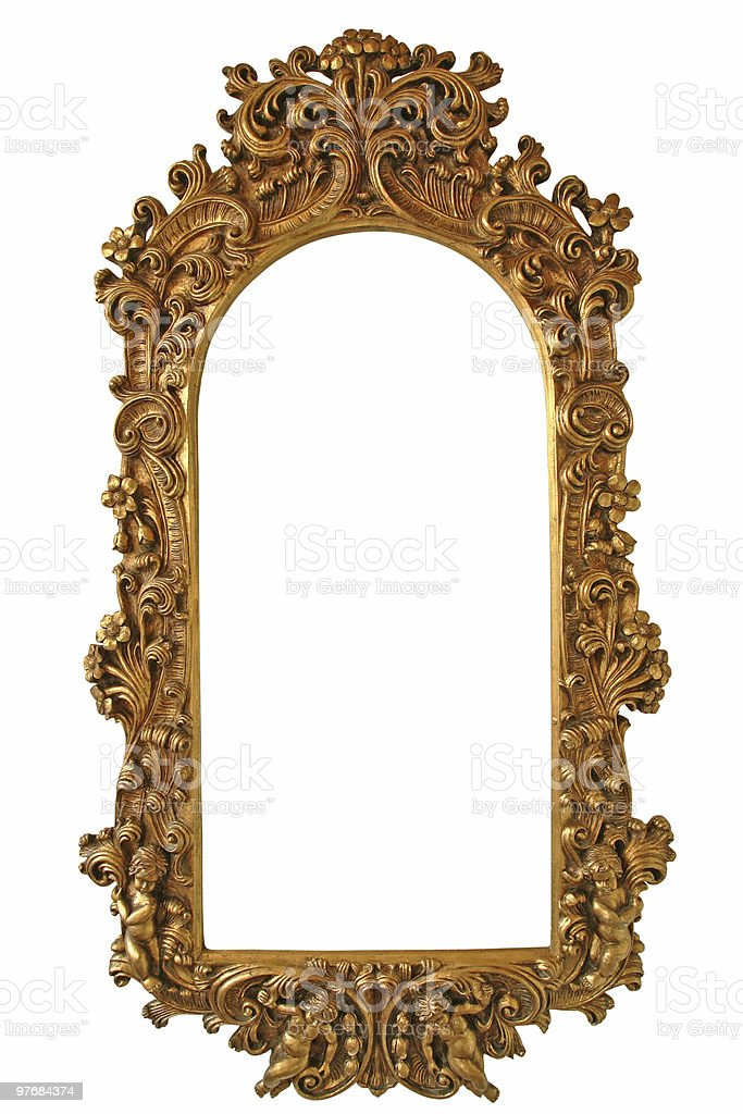 empty picture frame(with clipping path) stock photo