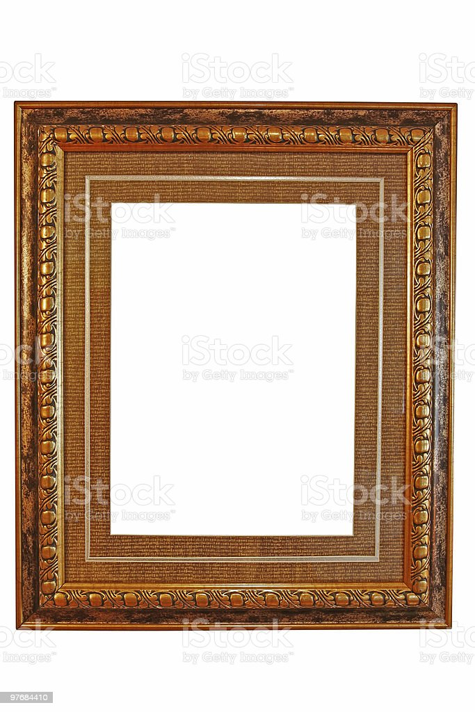 empty picture frame ( with clipping path ) stock photo