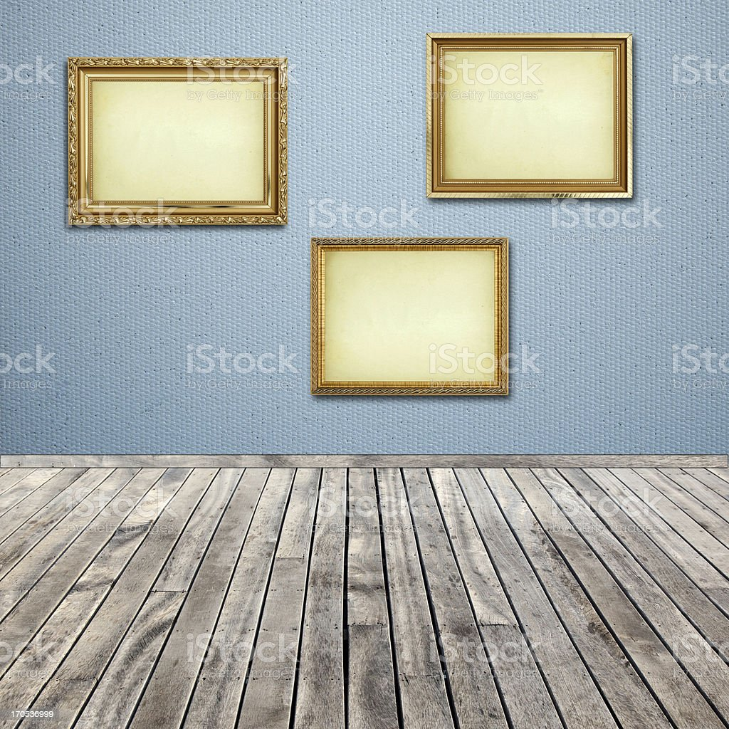 empty picture frame with interior room royalty-free stock photo