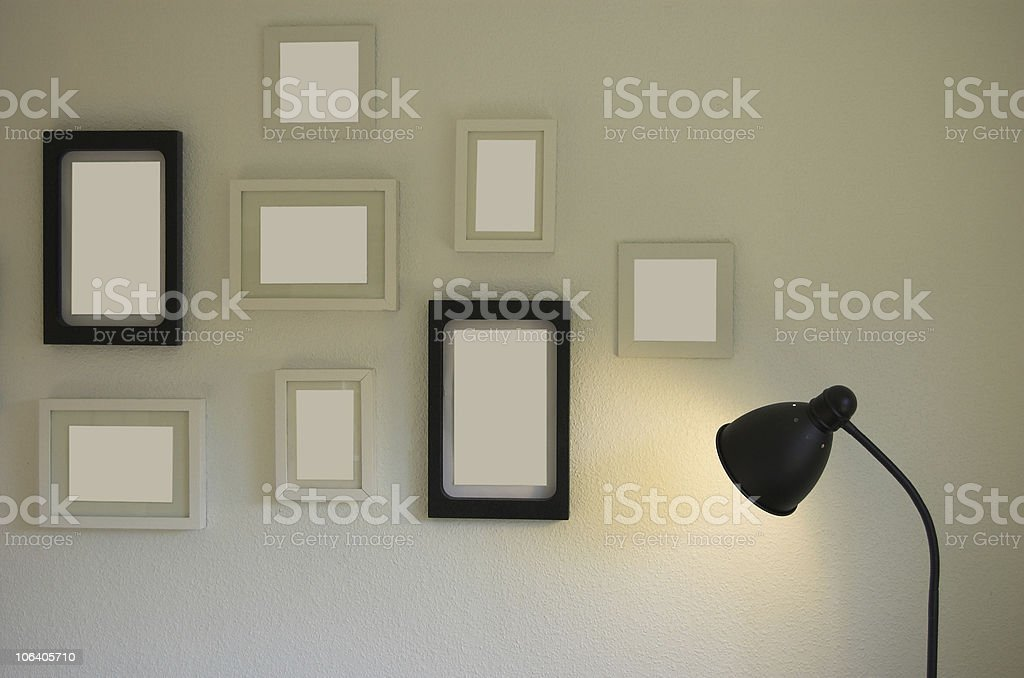 Empty picture frames royalty-free stock photo