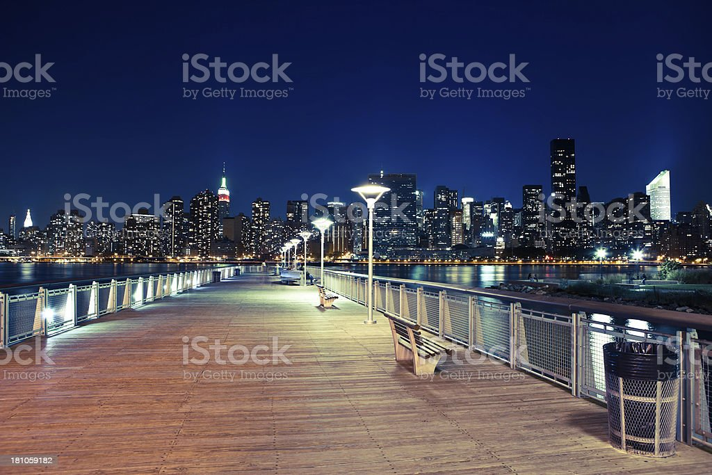 empty pier in queens royalty-free stock photo