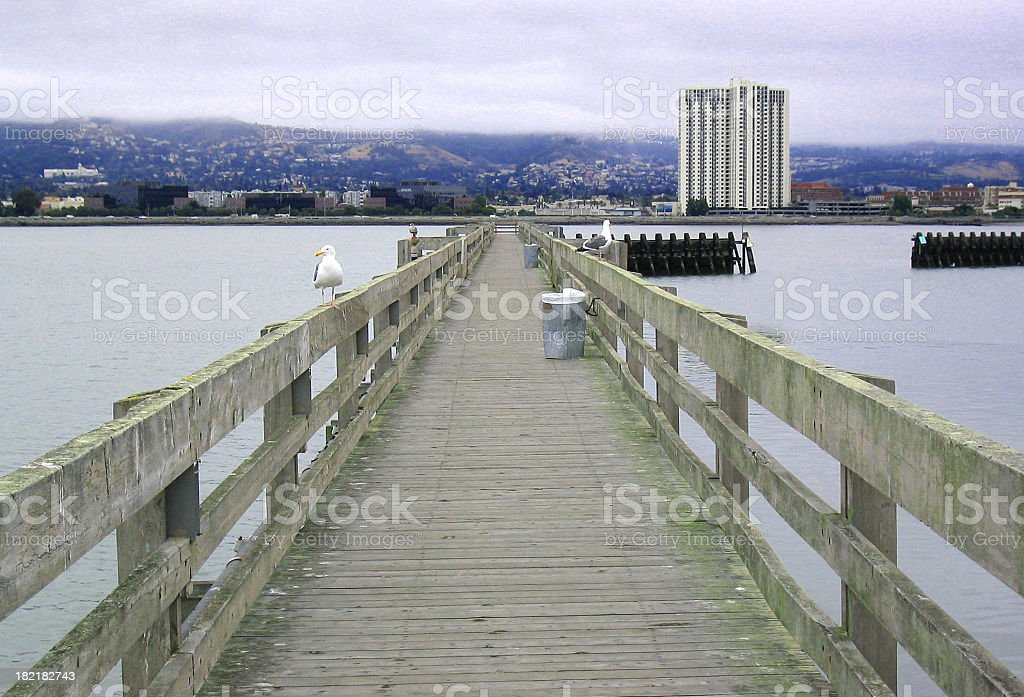 Empty pier royalty-free stock photo