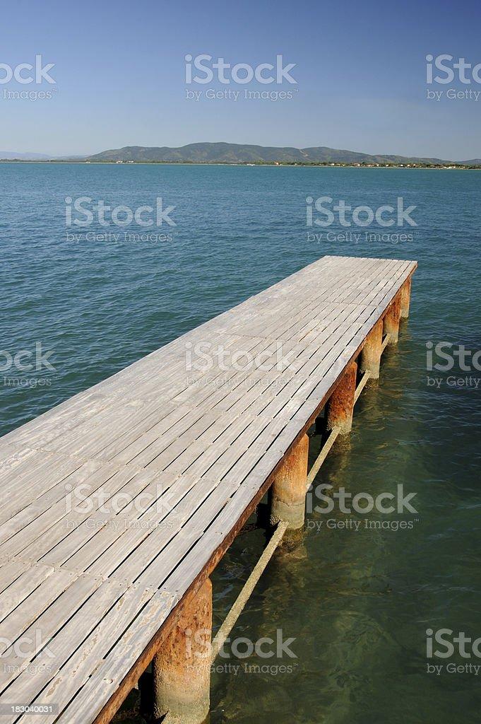Empty Pier stock photo