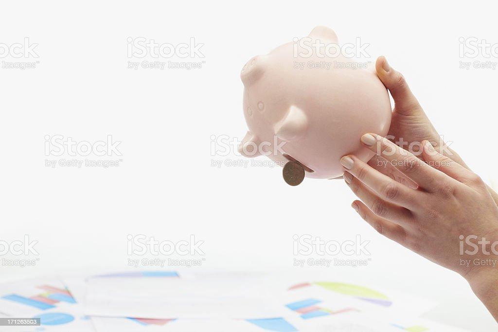 Empty piggy bank royalty-free stock photo