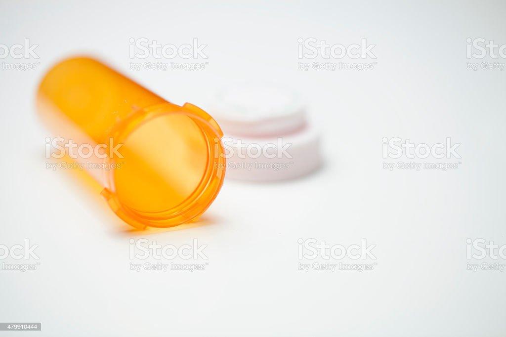 Empty Pill Bottle stock photo