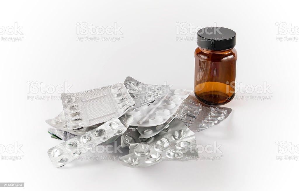 Empty Pills Packaging stock photo