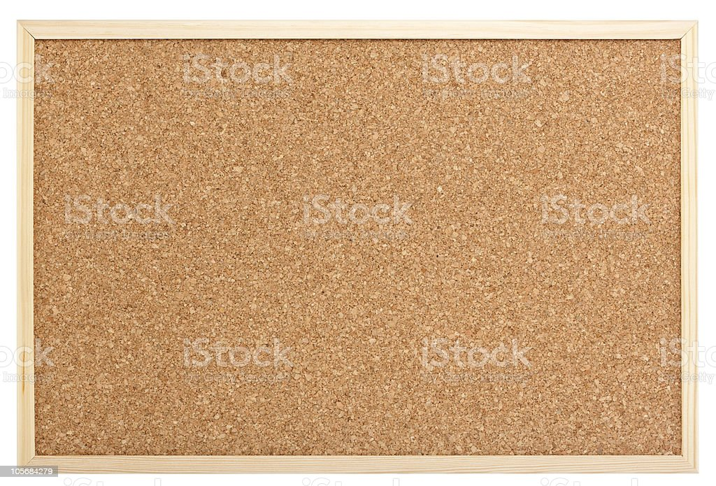 empty pinboard stock photo