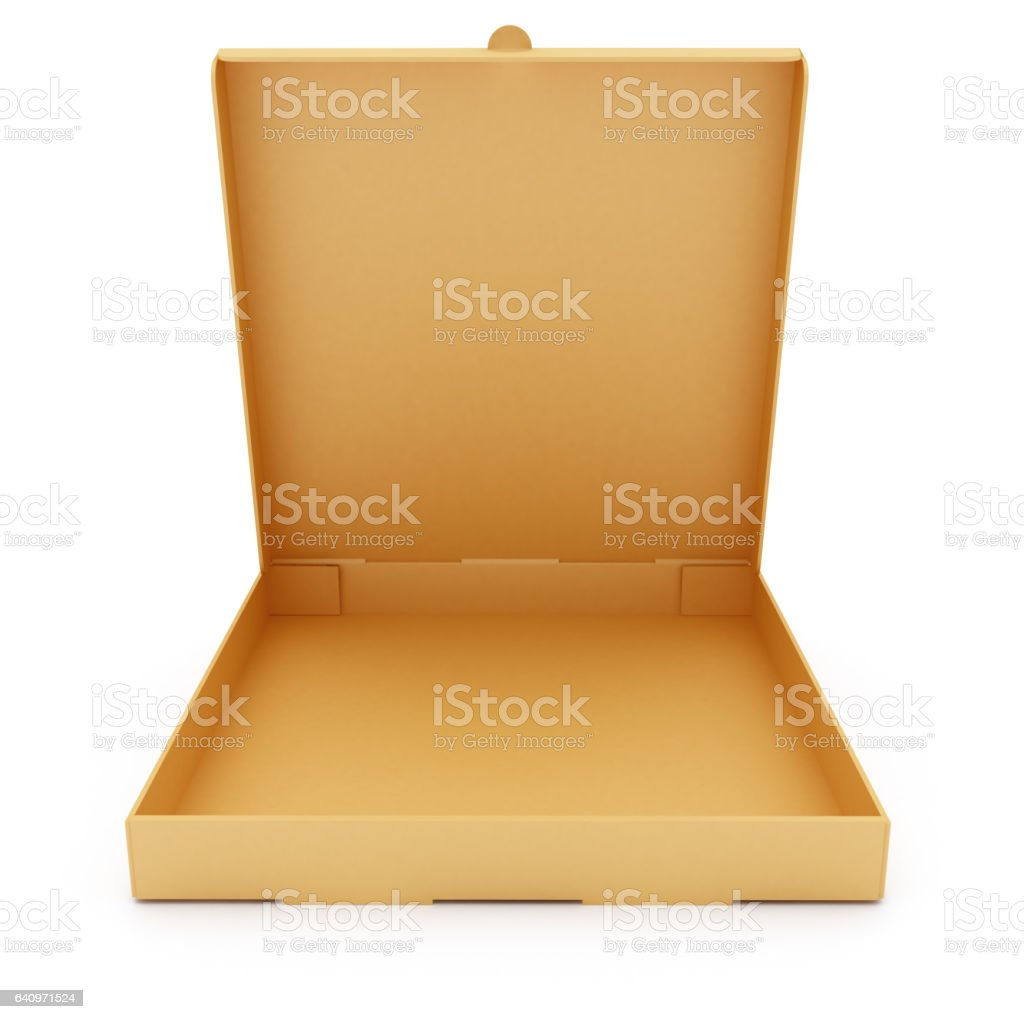 Empty Pizza Box stock photo