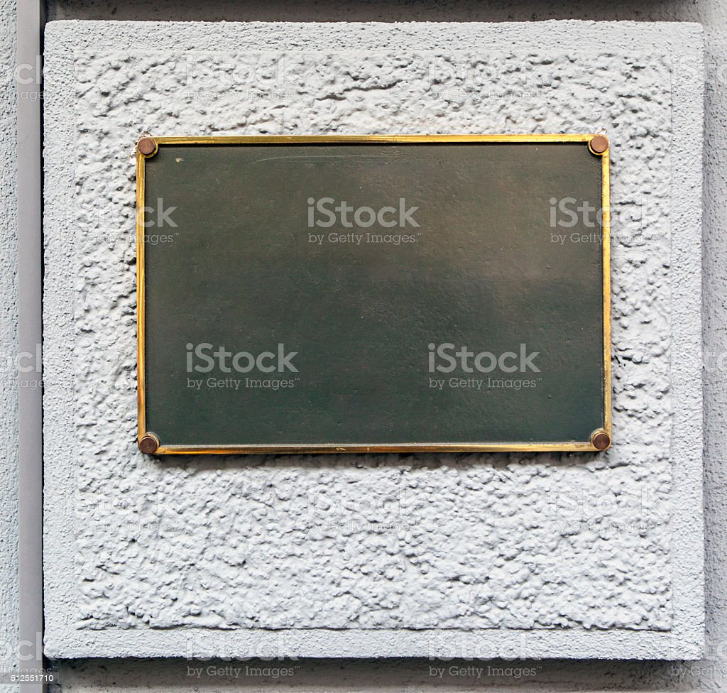 empty plaque stock photo