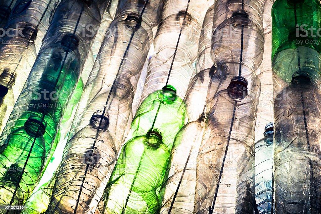 empty plastic bottles stock photo