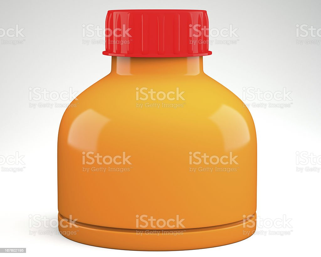 Empty plastic container royalty-free stock photo