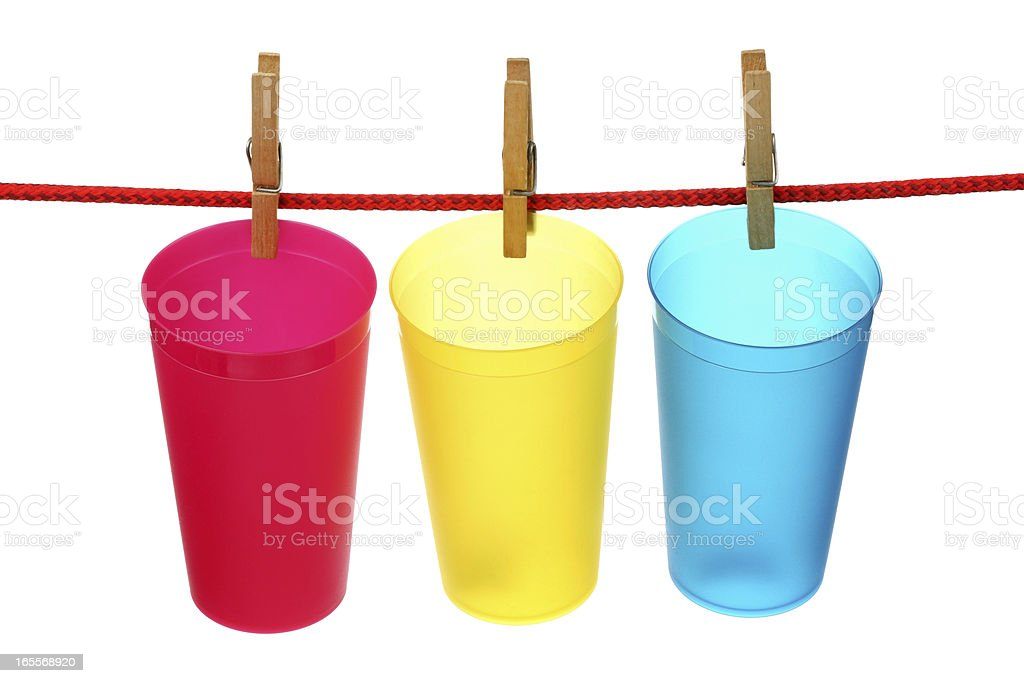 Empty plastic cups royalty-free stock photo