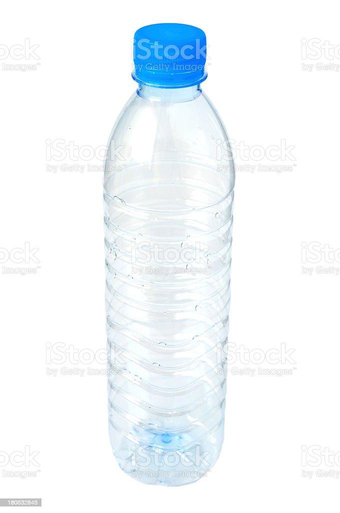 Empty plastic water bottle stock photo