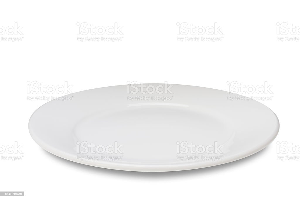 Empty plate on white royalty-free stock photo