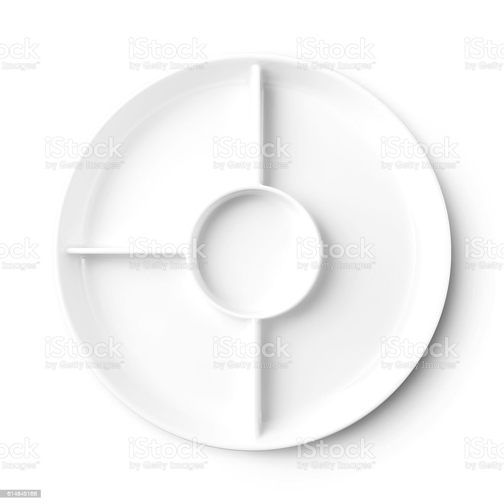 Empty plate pattern design with clipping path stock photo