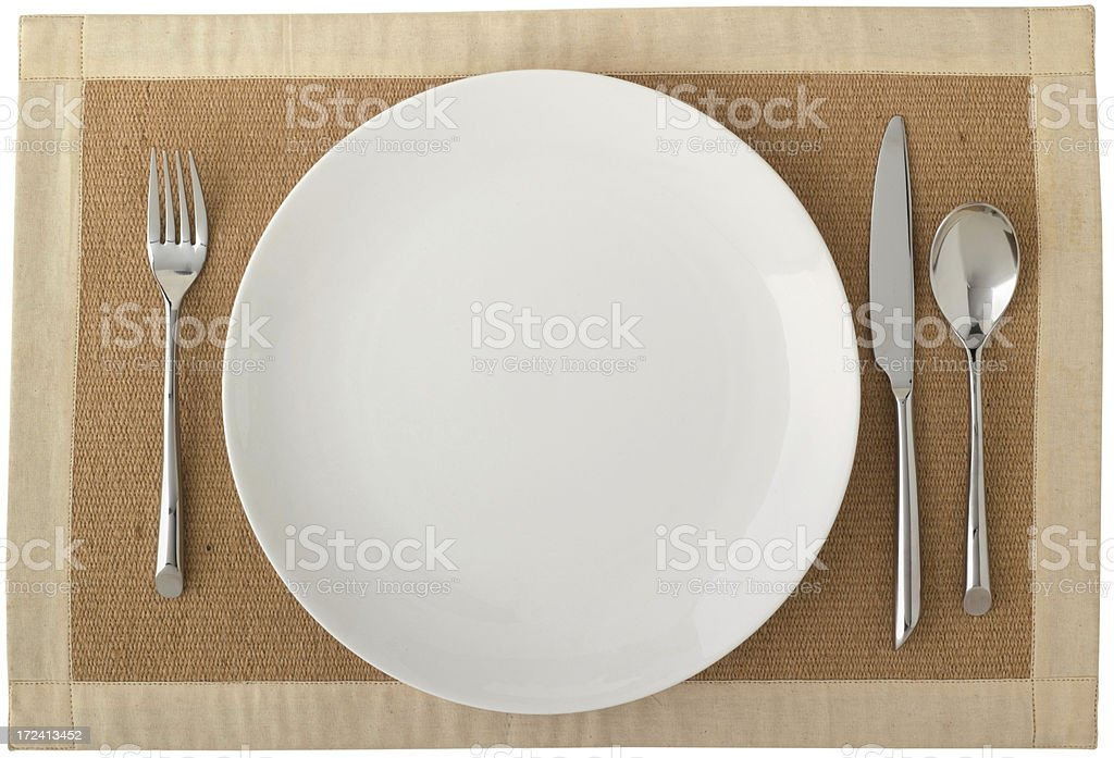 Empty Plate royalty-free stock photo