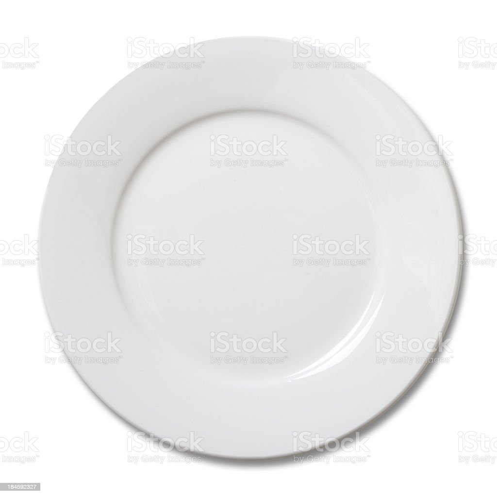 Empty plate stock photo