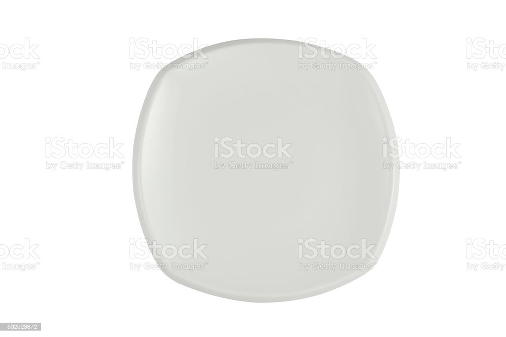 Empty Plate (clipping path) stock photo