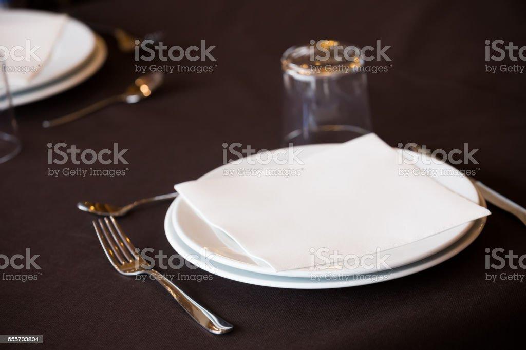 empty plate restaurant stock photo