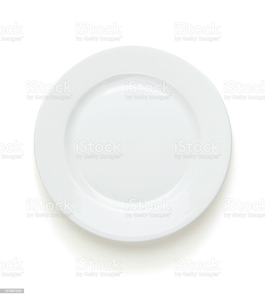 Empty plate with clipping path stock photo