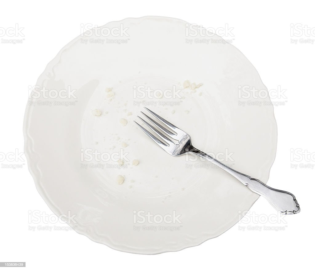 Empty Plate with Clipping Path royalty-free stock photo