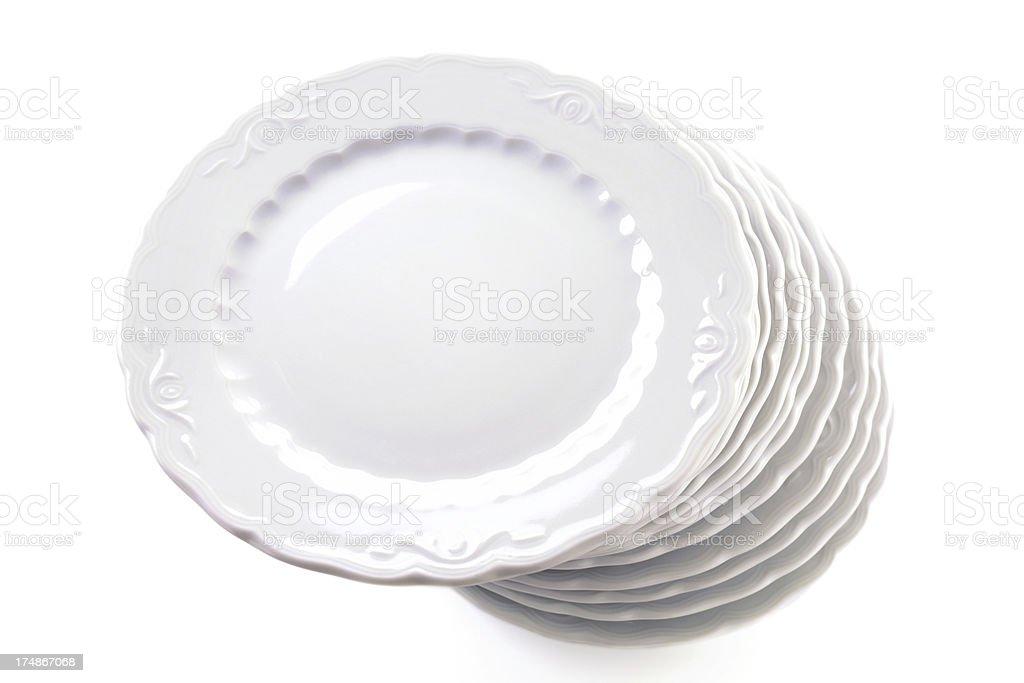 Empty Plates royalty-free stock photo
