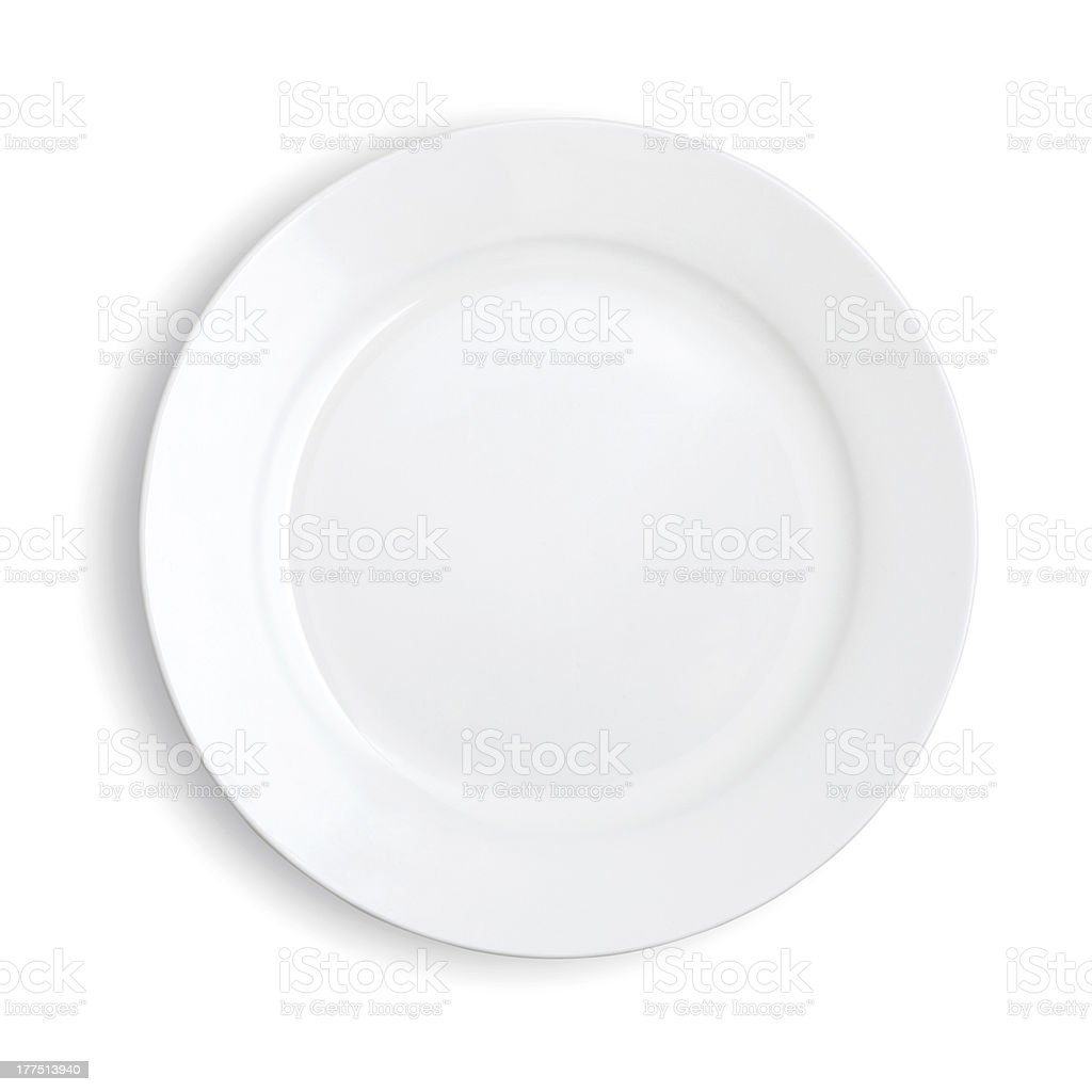 Empty plates stock photo