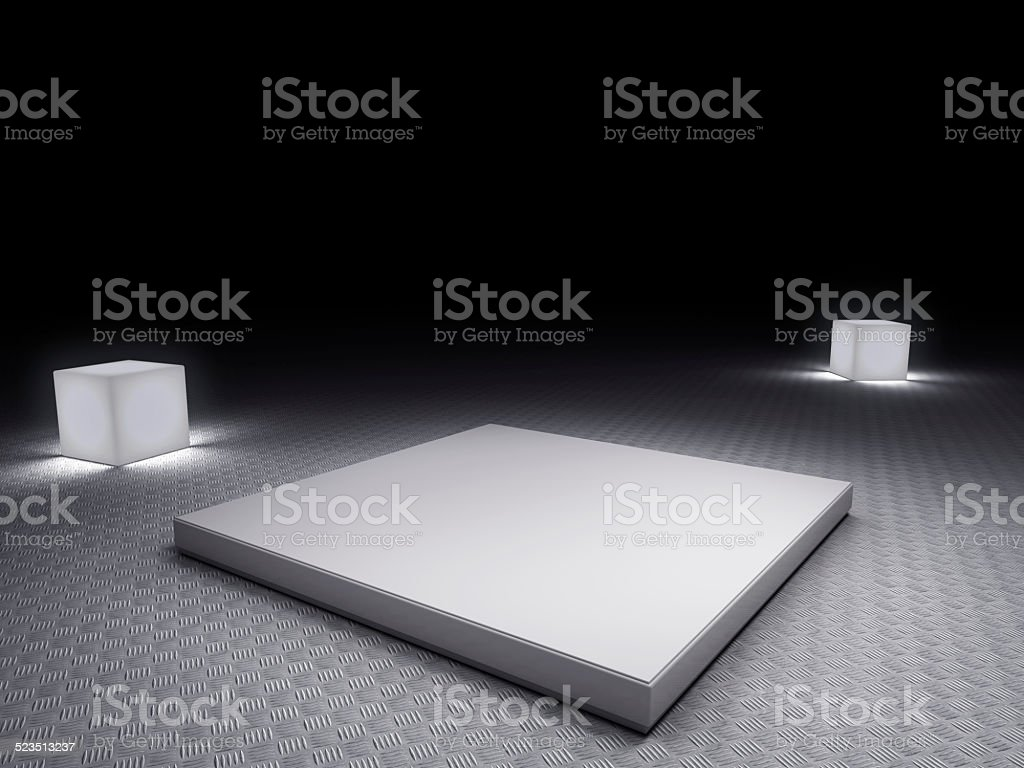 empty platform stock photo
