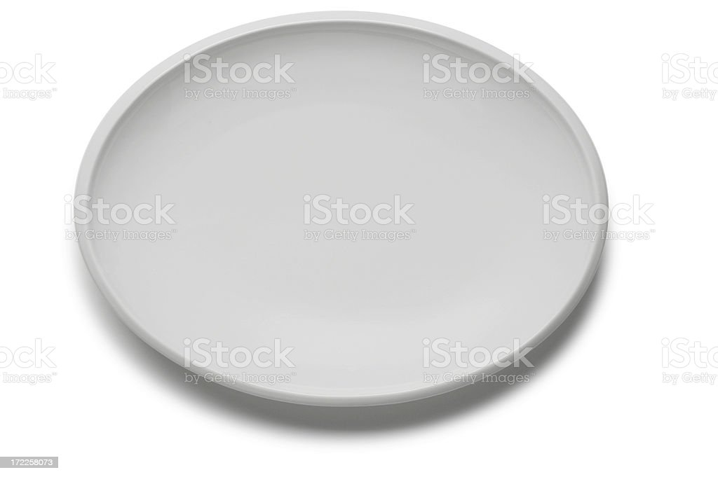 Empty Platter stock photo