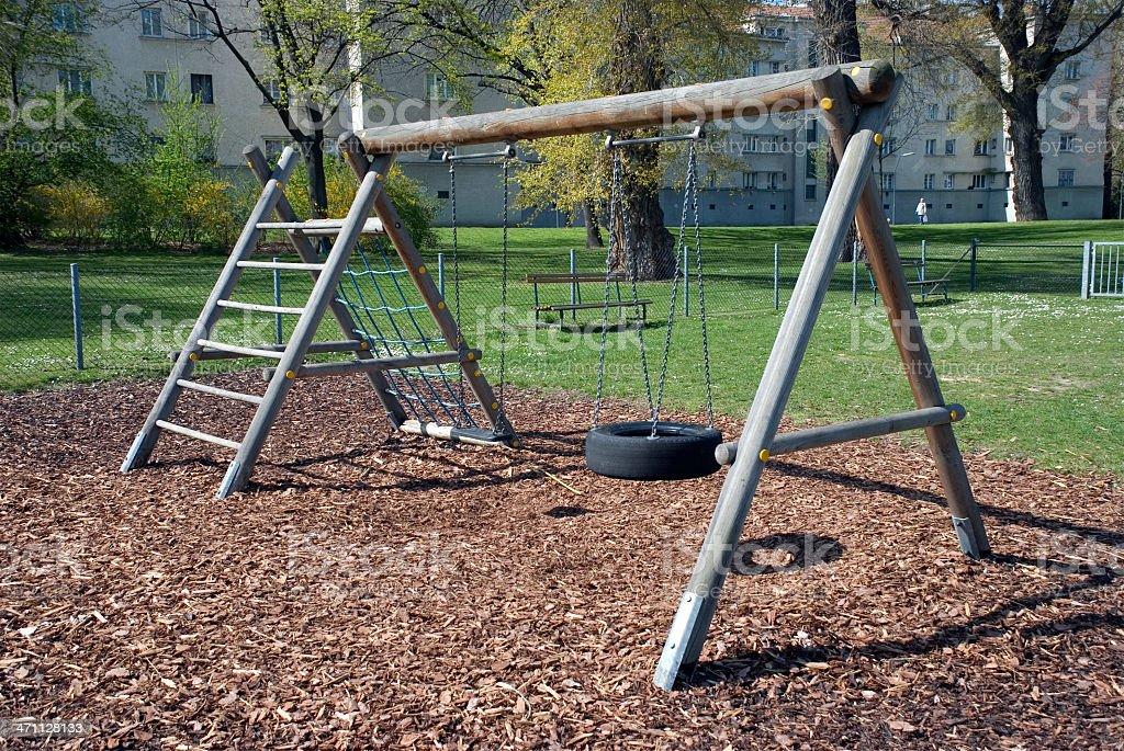 Empty Playground stock photo