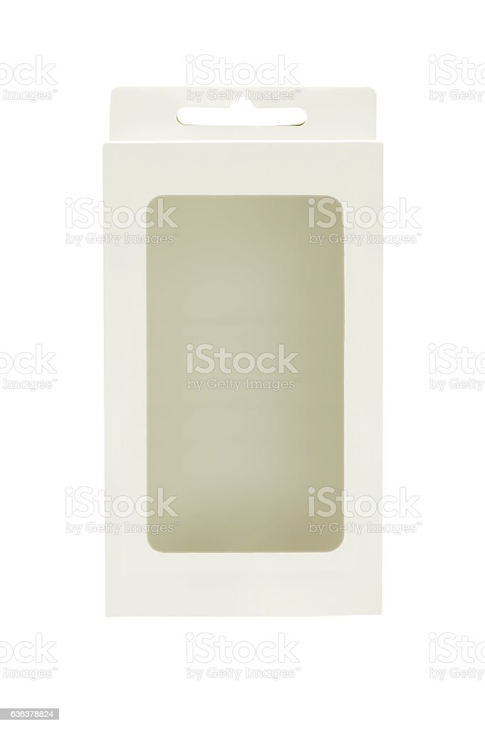 Empty Product Package Box stock photo