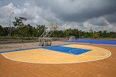 empty public basketball court