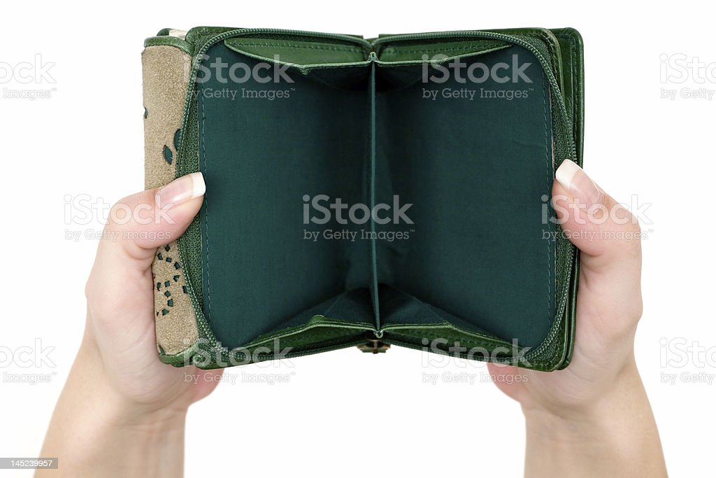 Empty Purse stock photo
