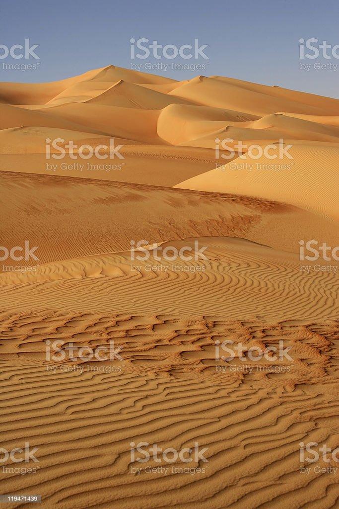 Empty Quarter Dunes royalty-free stock photo