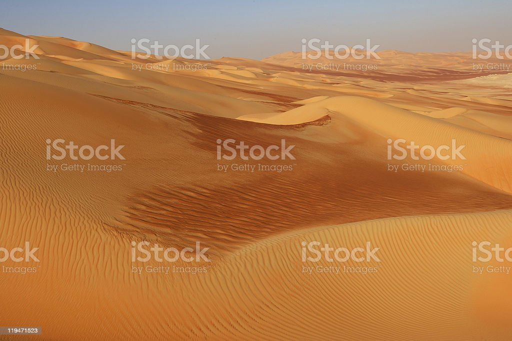 Empty Quarter Dunes royalty-free stock photo