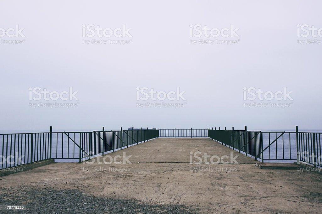 Empty quay in Crimea, Ukraine royalty-free stock photo