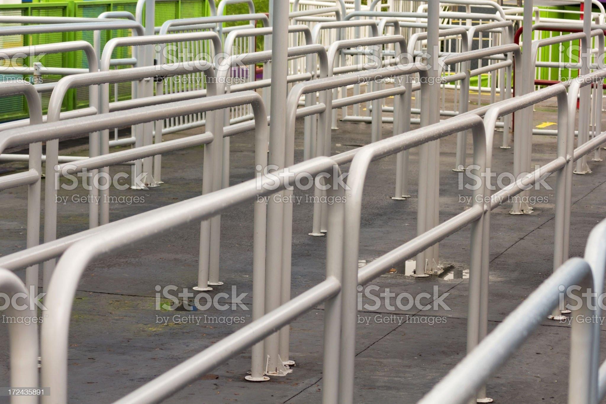 Empty queue royalty-free stock photo