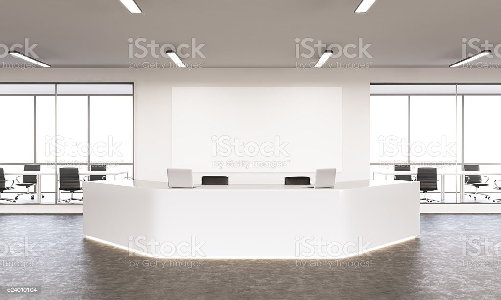 Empty reception stock photo