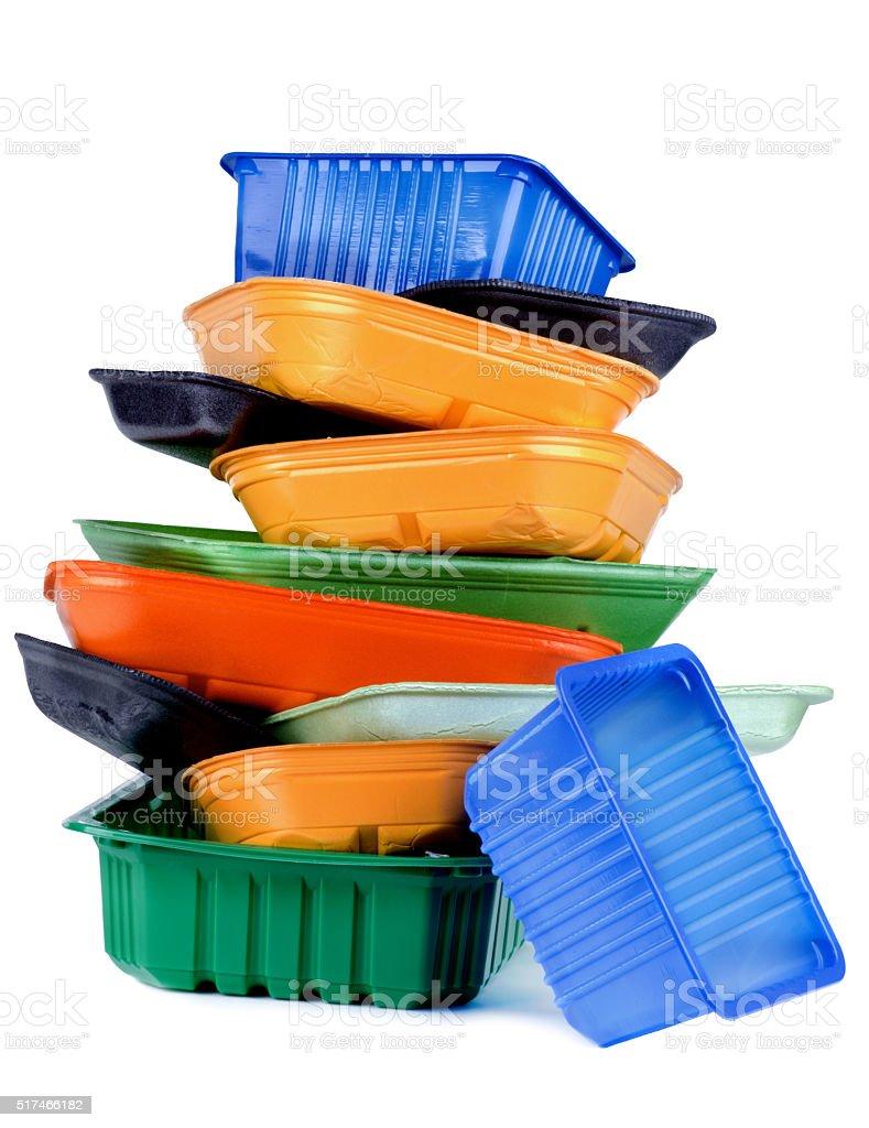 Empty Recycled Trays stock photo