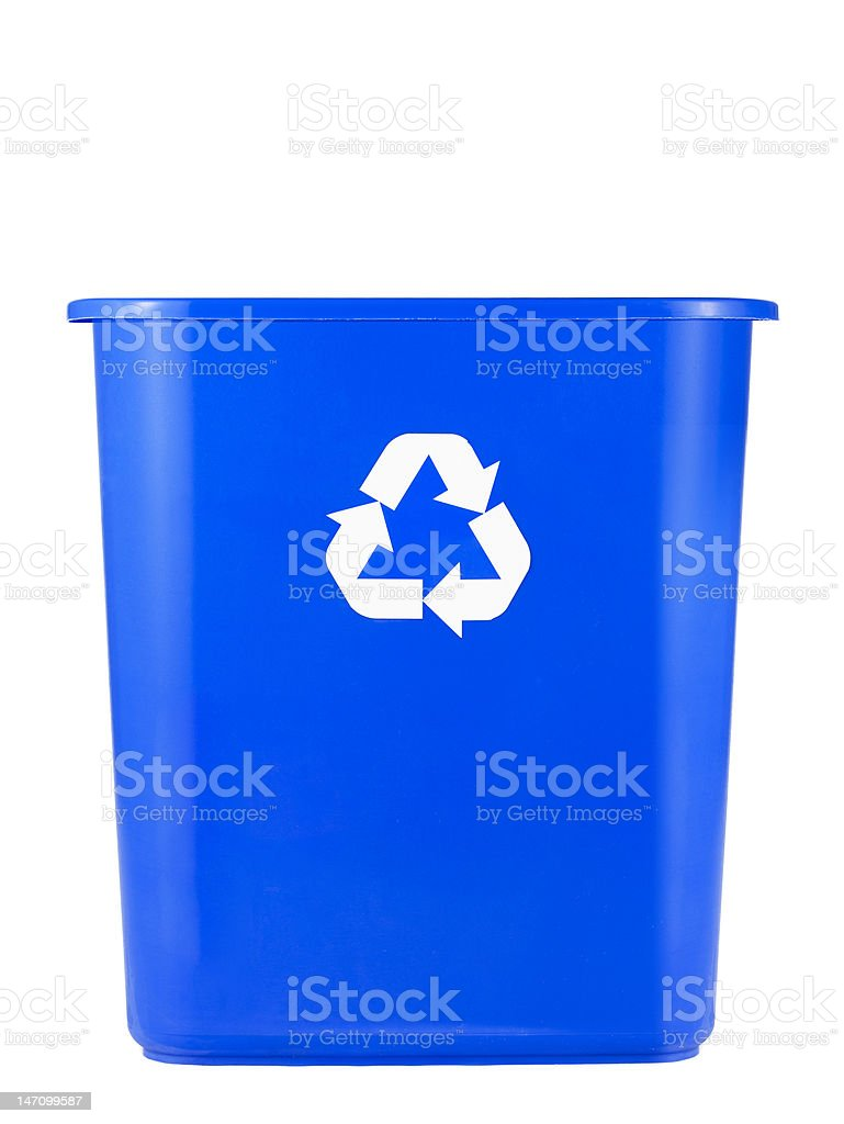 Empty Recycling Bin royalty-free stock photo