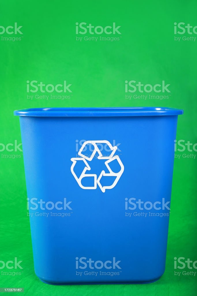 Empty Recycling Bin royalty-free stock photo