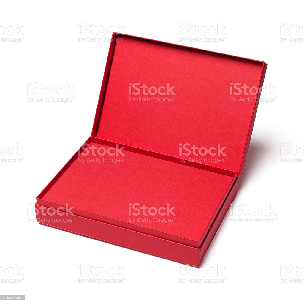 Empty red box stock photo